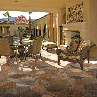 Golden Sun quartzite natural cleft flagstone